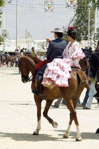 Un'immagine ricorrente della Feria de Abril di Siviglia
