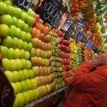 La frutta nel mercato della Boqueria