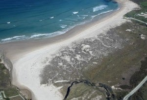 playa del patin, ferrol, galizia
