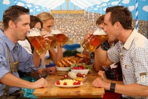 Un tipico pasto dell'Oktoberfest