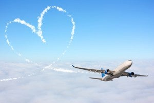 Amore e tenerezza in aereo