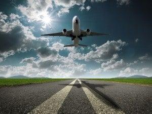 Fase di decollo di un aereo