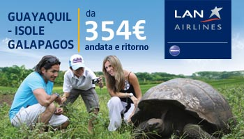 rotta LAN Guayaquil - Galapagos