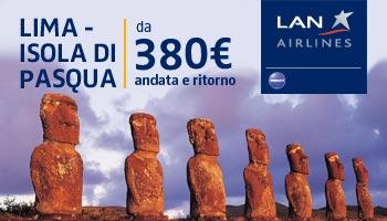 rotta LAN Lima - Isola di Pasqua