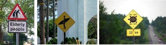 segnali stradali strani