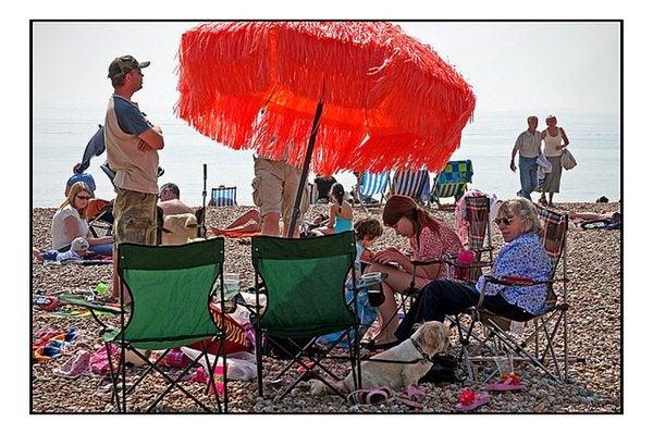 Gente da spiaggia - famiglia strana
