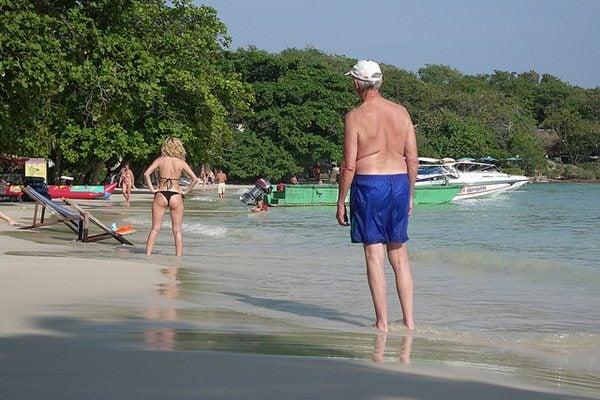 Gente da spiaggia - guardone