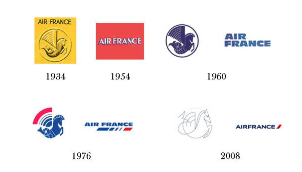 Evoluzione logo Air France