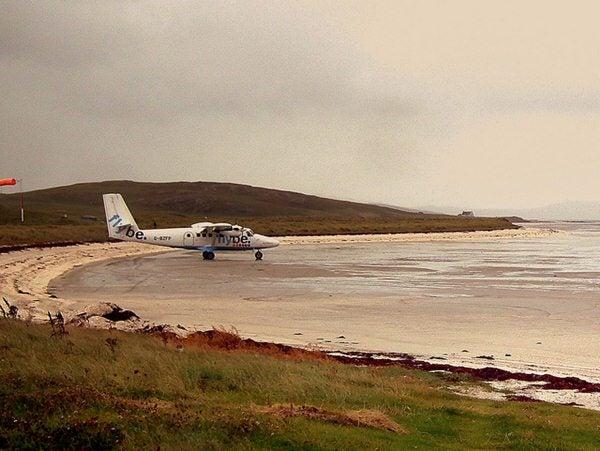 aerouporto Barra, Escocia