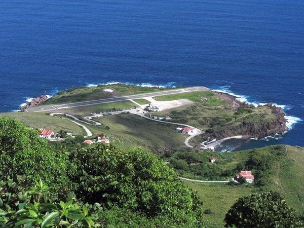 Saba Island aeropuerto