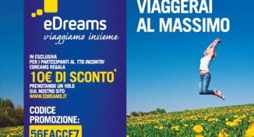eDreams al TTG di Rimini: buoni sconto in regalo per i visitatori!