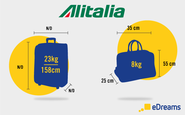 Alitalia: Dimensioni bagaglio a mano e bagaglio da stiva
