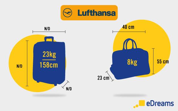 Lufthansa: Dimensioni bagaglio a mano e bagaglio da stiva
