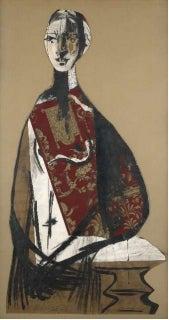 Pablo Ruiz Picasso (Málaga, 1881–Mougins, 1973) Ritratto di Signora © Succession Picasso 2013 1928Gouache, ink, and collage on paper