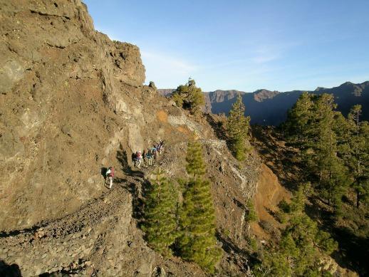 Canarie, La Palma il sentiero della cumbre