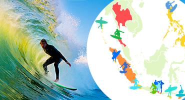 Le 15 spiagge migliori dell'Asia per fare surf