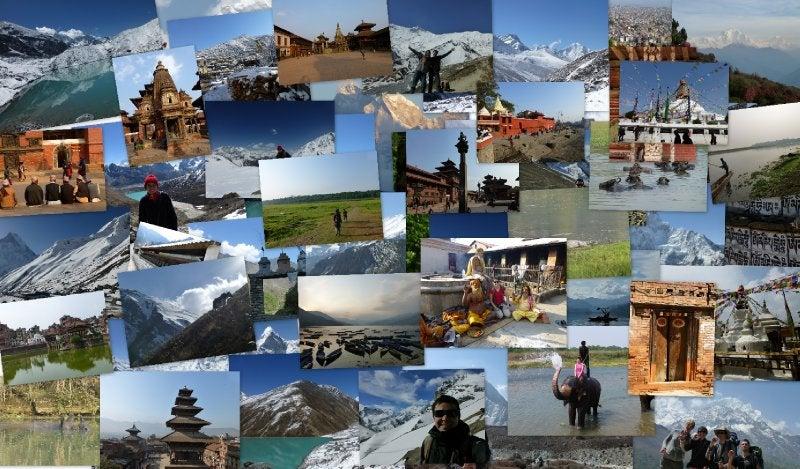 Maria calvo viaggio collage