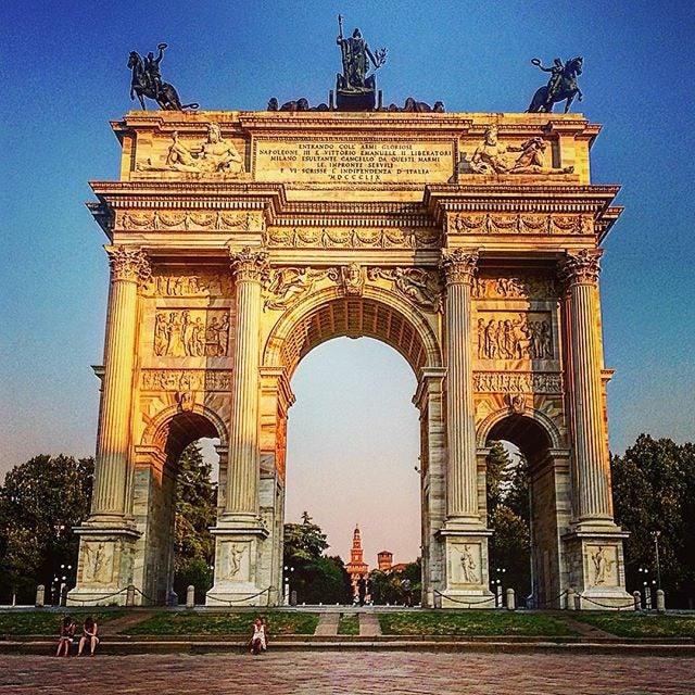 Arco della Pace, Parco Sempione e Castello Sforzesco