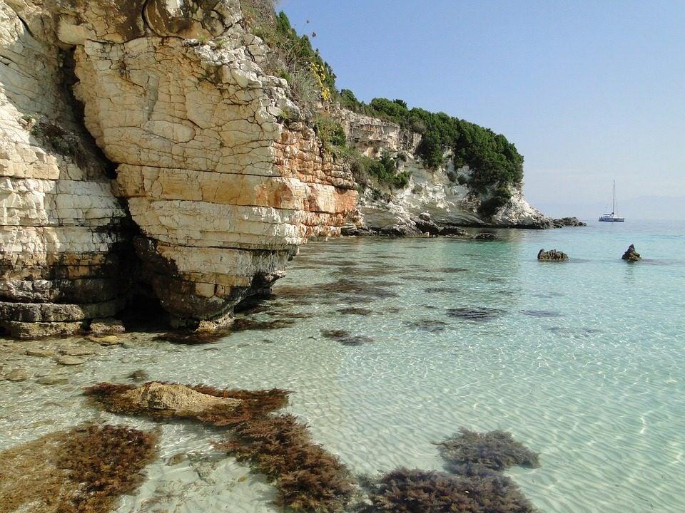 Isola di Paxos in Grecia