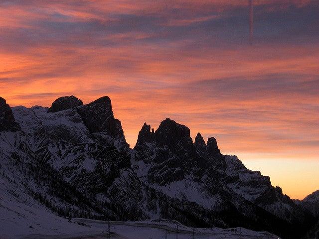 Enrosadira, Dolomiti