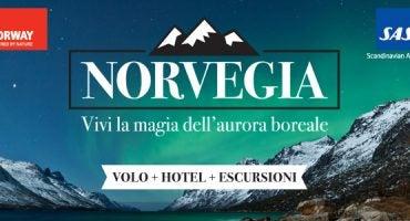Vinci un viaggio in Norvegia con alloggio ed escursioni incluse