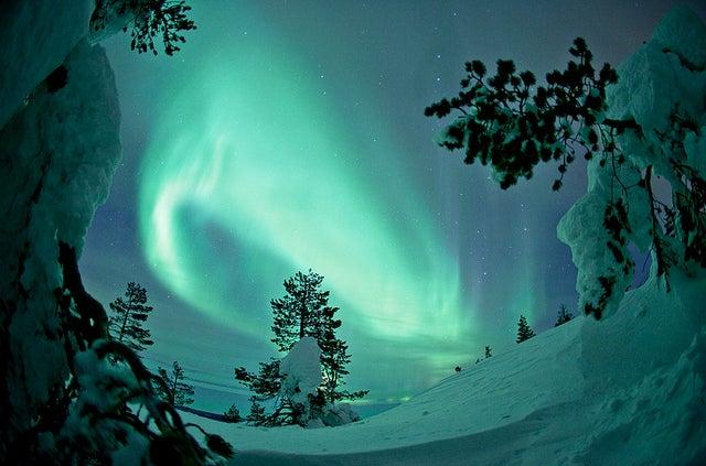Auroras boreales: cuándo y dónde verlas. aurora boreal en finlandia