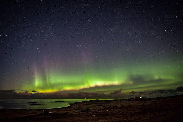 Northern Lights Skye Skye Island Northern