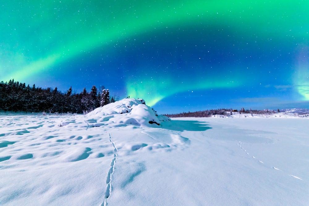 Auroras boreales: cuándo y dónde verlas. aurora boreal de alaska