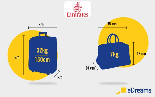 medidas equipaje fly emirates