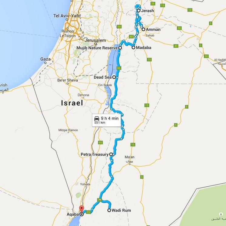 Itinerário pela Jordânia