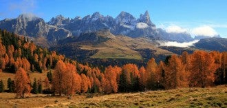 Trentino valle autunno