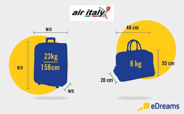 Air Italy: dimensioni bagaglio a mano e bagaglio da stiva