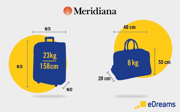 Meridiana: Dimensioni bagaglio a mano e bagaglio da stiva