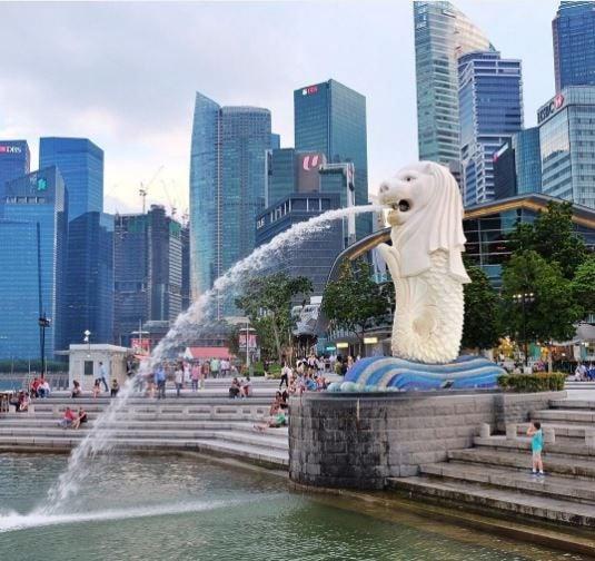 Statua del Merlion singapore