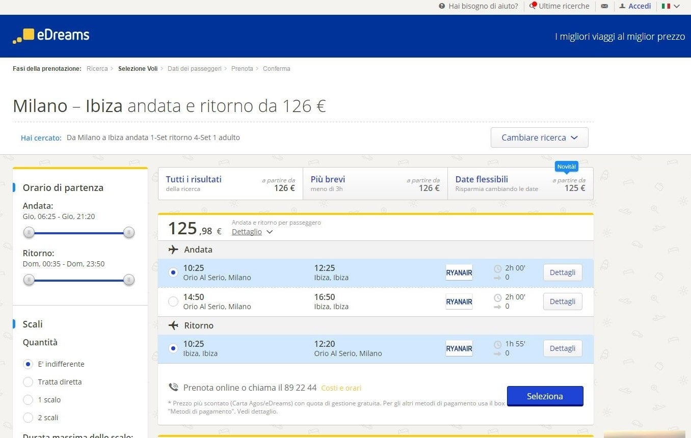 scelta volo edreams blog di viaggi