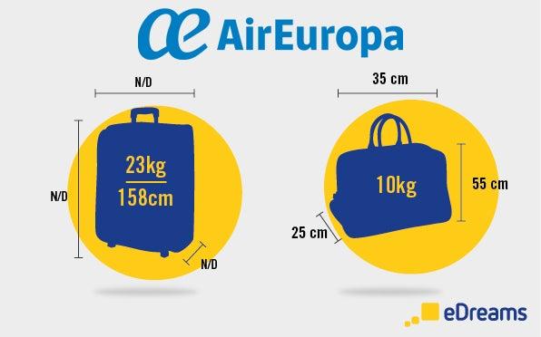misure bagaglio air europa
