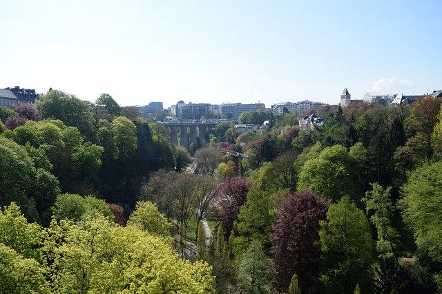 valle del Pétrusse de Luxemburgo