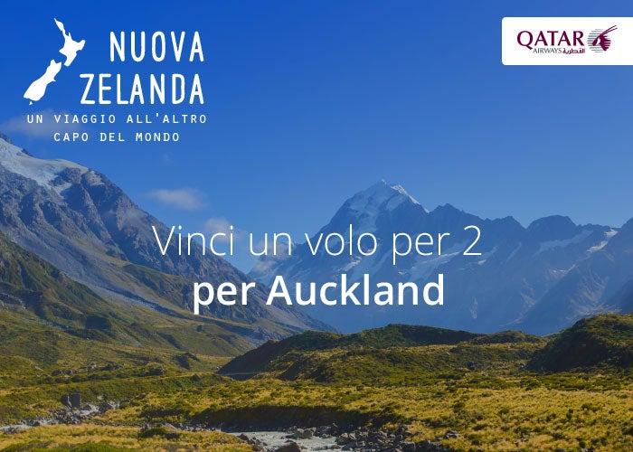 vinci un volo per auckland nuova zelanda