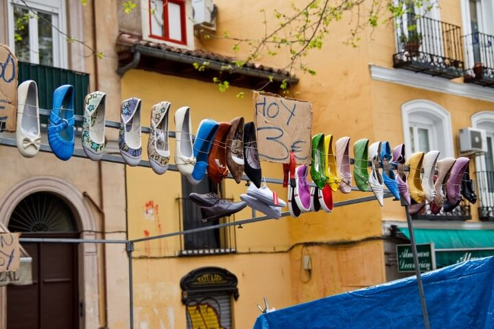 El Rastro, mercato di scarpe