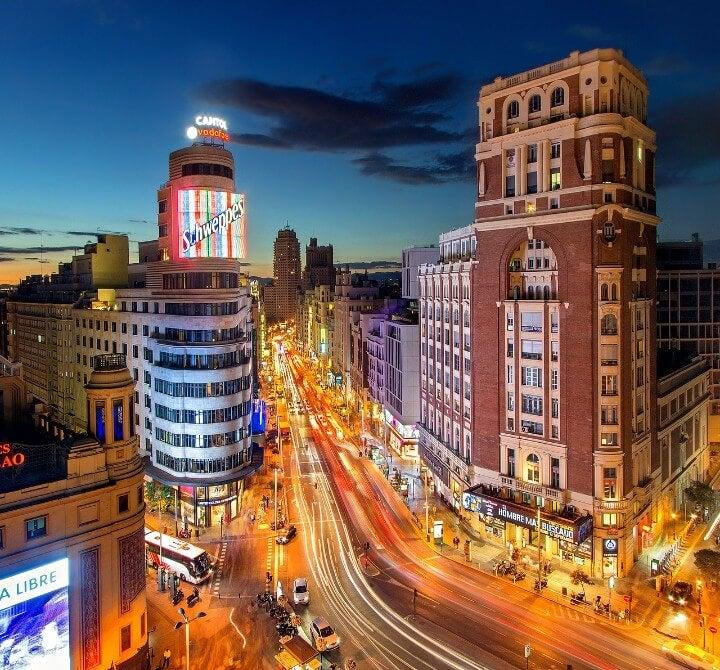 Gran Via, Madrid di notte