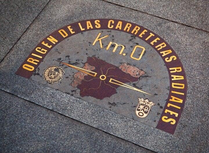 Targa pedonale Puerta del Sol km 0
