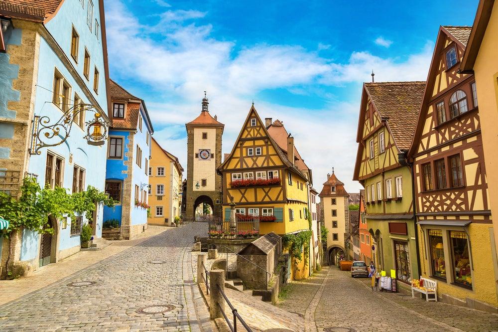 Rothenburg Ob Der Tauber strada medievale
