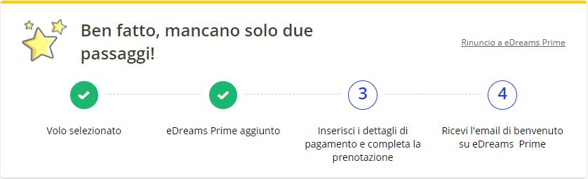 finalizzazione eDreams Prime