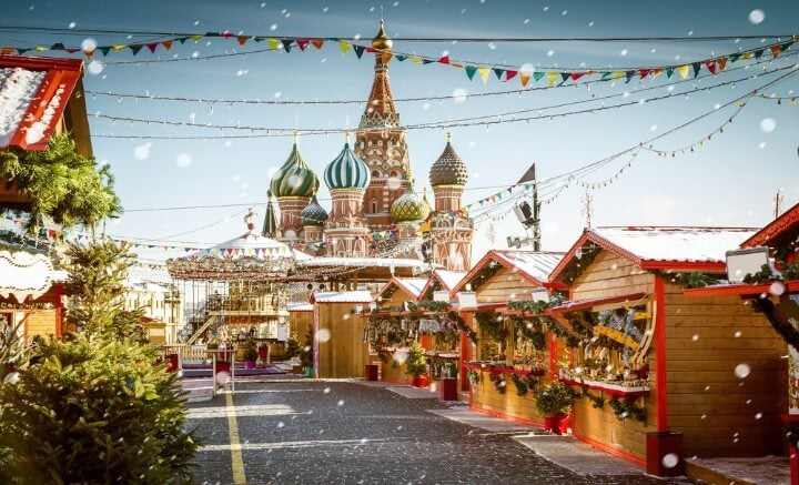 San Basilio, Mercatini Natale a Mosca
