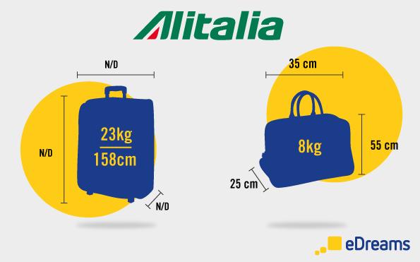 Alitalia bagaglio a mano e da stiva
