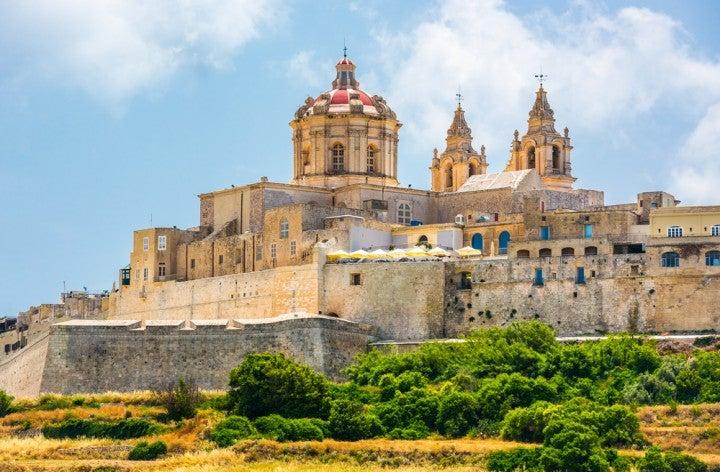 città di Mdina, una delle città dello stato maltese