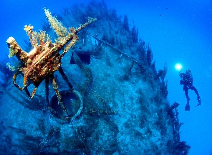 Relitto sottomarino a Malta.