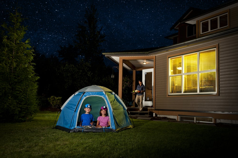 tenda in giardino