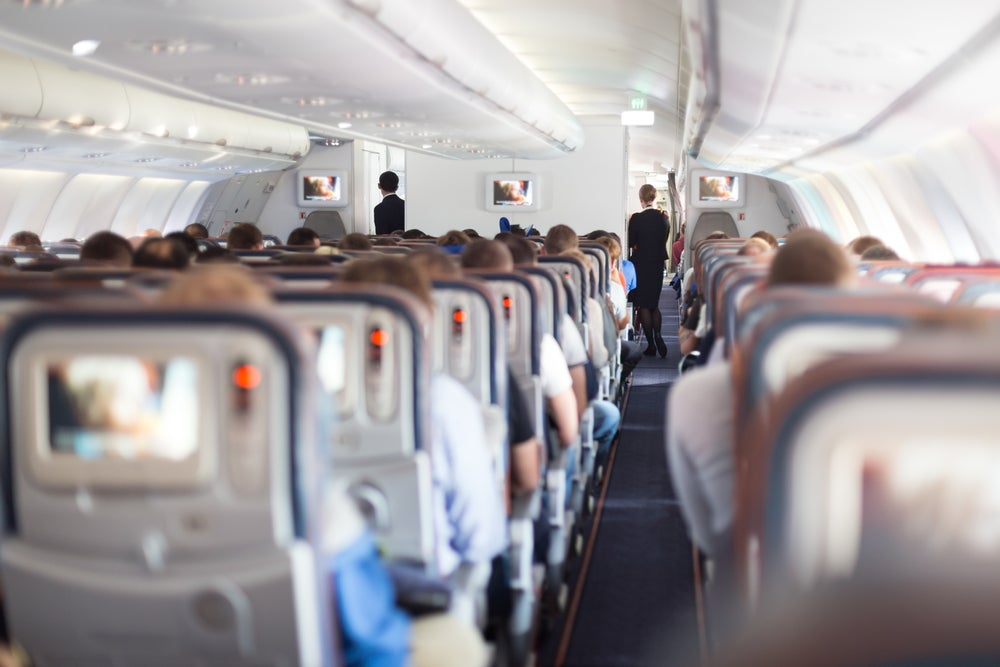 interno aereo file passeggeri