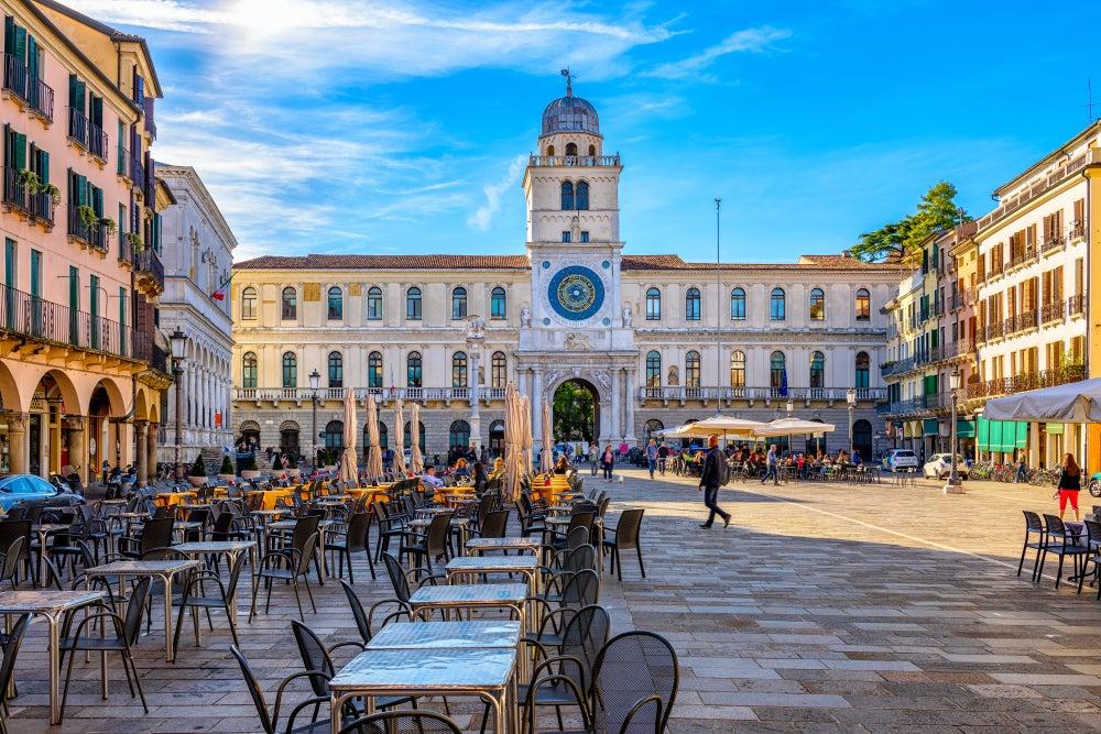 piazza dei Signori e Torre dell'orologio Padova